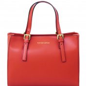 Tuscany Leather Aura Ruga leather handbag Red Leather handbags