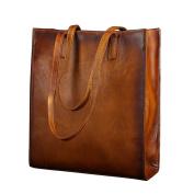 Berchirly Top-Handle Handbag Leather Shopping Tote Shoulder Bag