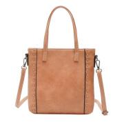 Sonnena Women's Tote Bags Shoulder Handbag For Women Designer Faux Leather Top Handle Bag School College