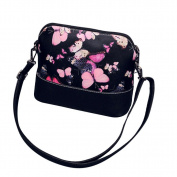 Clearance/BESTOPPEN Womens Shoulder Bag ,Women Ladies Fashion Flower Print Leather Handbag Girls Lovely Mini Purse Satchel Bag Casual Small Cross Body Shoulder Bag Party Bag Messenger Bag