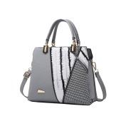 Vbiger Chic Tote Bag PU Leather Messenger Bag Dual-use Shoulder Bag Crossbody Bag for Women£¨Dark Grey)