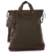 LECONI shopper leather canvas vintage look handle bag women tote handbag 39x45x10cm LE0037-C
