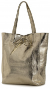 LiaTalia Genuine Italian Soft Leather Leightweight Large Hobo Shopper Shoulder bag with Protective Dust Bag - Astrid
