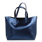 Women Tote Genuine Leather Handbag New Simple Shoulder Bag With Detachable Inner Bag