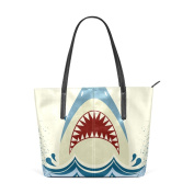 COOSUN Shark Jaws PU Leather Shoulder bag Purse and handbags Tote Bag for women
