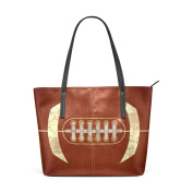 COOSUN American Football PU Leather Shoulder bag Purse and handbags Tote Bag for women