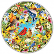 A Broader View's Round Table Puzzle - Backyard Birds by Greg Giordano