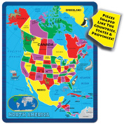 A Broader View's Continent Puzzle - North America
