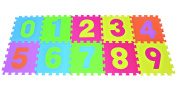 POCO DIVO Numbers Puzzle Play Mat 10-tile Colourful EVA Foam Kids Early Education