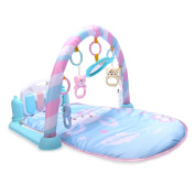 Baby Kick Play Piano Gym Playmat Musical Activity Soft Pad Baby Fitness Frame with Piano Pedals Toys for Newborn Baby