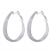 Creative Frosted Face Earrings Jewellery Fashion Silverware