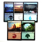 Magic the Gathering, Basic Land Promo cards set by Mark Poole, FOIL, New, Mint