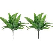 Foopp Fern Artificial Grass Leaves Plant Home Wedding Decoration - Green