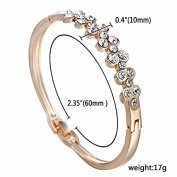 Xinmaoyuan Wedding Jewellery European And American Popular Styles And More Drainage Diamond Flower Buckle Bangle Fashion Bracelet Wedding Gift Birthday Present Holiday Gifts