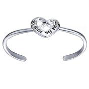 Xinmaoyuan Wedding Jewellery Heart-Shaped Bracelet Fashion Jewellery Ideas Simple English Irregular Openings Bracelet Wedding Gift Birthday Present Holiday Gifts