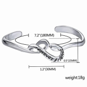Xinmaoyuan Wedding Jewellery Fashion Jewellery In Europe And Simple Stencil Alphabet Bracelets And Jewellery Open Bracelet Wedding Gift Birthday Present Holiday Gifts
