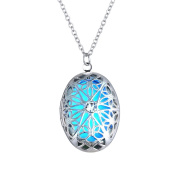 Xinmaoyuan Wedding Jewellery 2015 New Jewellery Copper Oval Openwork Luminous Necklace Western Decorations Wedding Gift Birthday Present Holiday Gifts