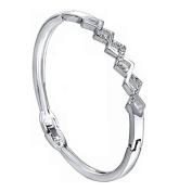 Xinmaoyuan Wedding Jewellery European And American Fashion Waves Diamond Encrusted Buckle Bracelets Wedding Gift Birthday Present Holiday Gifts