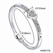 Xinmaoyuan Wedding Jewellery New Hot Hearts Flashing Rhinestone Buckle Fashion Alloy Bangle Bracelets Wedding Gift Birthday Present Holiday Gifts