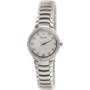 Bulova Women's Dress 96P20 Silver Stainless-Steel Quartz Watch