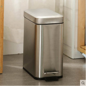 Step trash can,Waste bins with lids stainless steel trash can in home & Accessori vino decanter per matrimonio-B