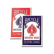 Bicycle Bridge Standard Index Playing Cards - 1 Red Deck and 1 Blue Deck #1004995