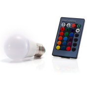 3W E27 16 Colour Choices Changing RGB LED Light Bulb With IR Remote Control Dimmable Decoration