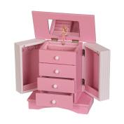 Mele & Co. Elise Girls Wooden Musical Ballerina Jewellery Box