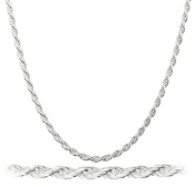 Real 925 Italy Sterling Silver 2mm Rope Chain Nickel Free