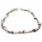 Sterling Silver Footprint Link Bracelet
