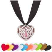 Essential Oil Diffuser Necklace Locket Charm Stainless Steel Celtic Heart Pendant