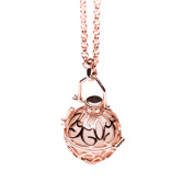 Essential Oil Diffuser Aromatherapy Necklace Rose Gold Classic Locket by Izzybell Jewellery