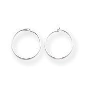 14k White Gold Madi K Sm. Endless Hoop Earrings