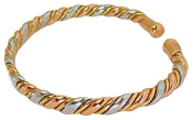 Solid Copper Womens Magnetic Cuff Bracelet Rose Small with Gift Box