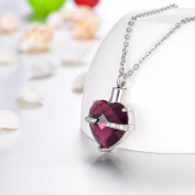 Feb Birthstone Amethyst Heart Cremation Jewellery Keepsake Memorial Urn Necklace