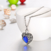September Sapphire Heart Cremation Jewellery Keepsake Memorial Urn Necklace