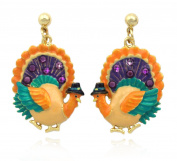 cocojewelry Turkey Dangle Earrings Thanksgiving Halloween Jewellery