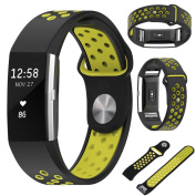 Nike Silicone Wristband Replacement Band Strap For Fitbit Charge 2