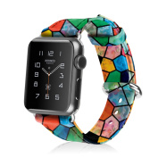 Fintie Wrist Band with Stainless Metal Clasp for Apple Series 1 Series 2 Watch Band 42mm, Mosaic