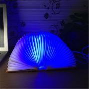 Creative desktop energy-save lamp/USB lamp/LED Rechargeable folding books coloured small night light
