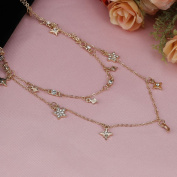 Star Moon Necklace Multi Chain Adjustable Length Women Party Jewellery for Gift On Clearance