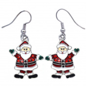 cocojewelry Santa Clause Dangle Charm Earrings Christmas Holiday Jewellery