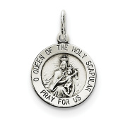 Sterling Silver Queen of the Holy Scapular Medal