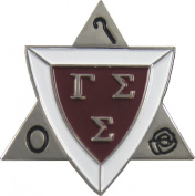 Gamma Sigma Sigma Active Membership Badge Lapel Pin [Silver - 2.9cm ]