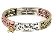 Lords Prayer Our Father Christian Stretch Bracelet Religious Jewellery