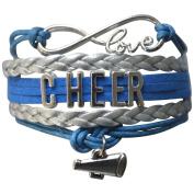 Girls Cheerleading Bracelet, Cheer Gifts- Cheer Jewellery- Cheer Bracelet- Adjustable Cheer Charm Bracelet- Gift For Cheerleaders, Cheer Teams & Cheerleading Coaches