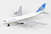 United 747 Single Plane, White - Daron RT6264 - Diecast Model Aeroplane Replica