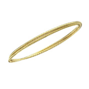 High Polished Rhodium Plated Diamond Cut Cross Over Slip On Bangle