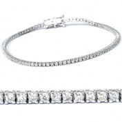 2ct Diamond Tennis Bracelet 14K White Gold 18cm