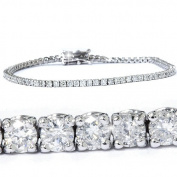 3ct. Round Cut Diamond Tennis Bracelet In 14k White Gold 18cm